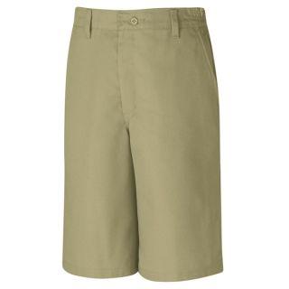 Plain Front Side Elastic Short