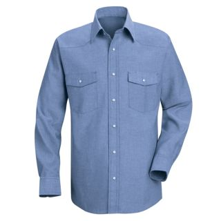 Mens Deluxe Western Style Shirt-Red Kap®