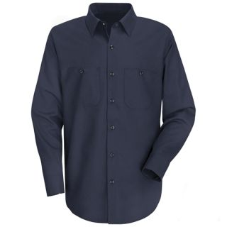 Mens Wrinkle-Resistant Cotton Work Shirt-Red Kap®