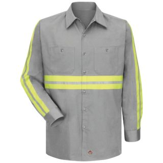 Enhanced Visibility Cotton Work Shirt-Red Kap®