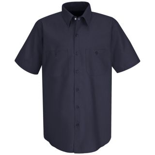SC40 Mens Wrinkle-Resistant Cotton Work Shirt-Red Kap®