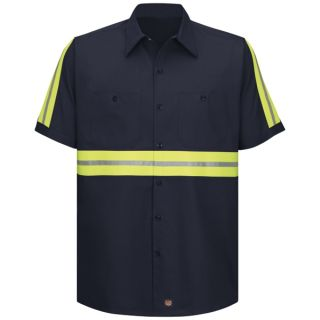 SC40_Enhanced Enhanced Visibility Cotton Work Shirt-Red Kap®