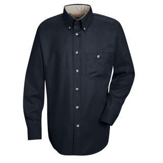 SC74 Mens Cotton Contrast Dress Shirt
