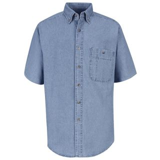 SD20 Mens Wrangler Denim Shirt-Red Kap®