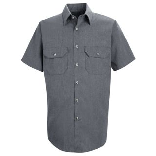 SH20 Mens Heathered Poplin Uniform Shirt