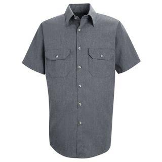 SH20 Men's Heathered Poplin Uniform Shirt