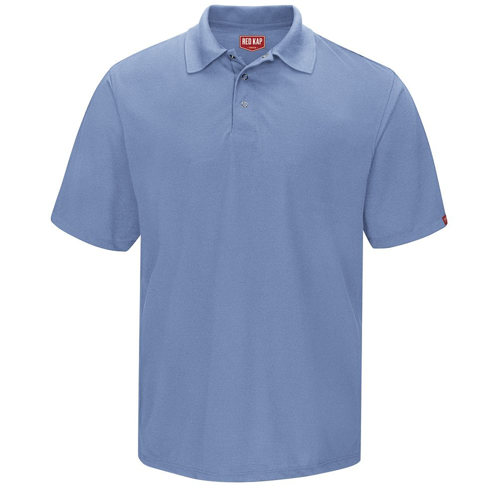 Spun Polyester Gripper-Front Polo-Red Kap®