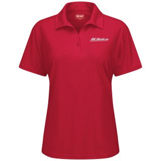 ACDelco Womens Short Sleeve Performance Knit Flex Series Pro Polo - SK91AR-Red Kap®