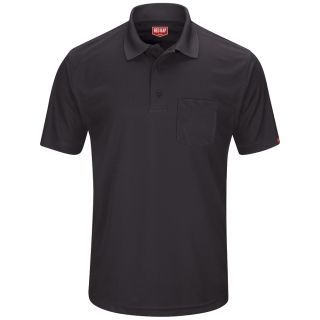 Performance Knit Mens Pocket Polo-Red Kap®