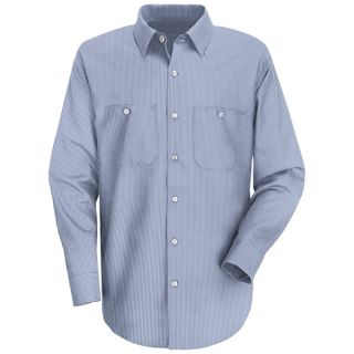 SL10 Mens Industrial Stripe Work Shirt