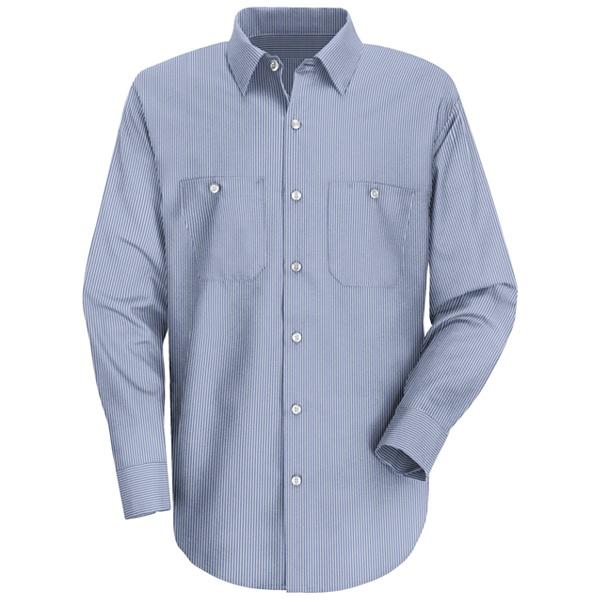 784f8f5911b523 Buy SL10 Mens Industrial Stripe Work Shirt - Red Kap® Online at Best ...
