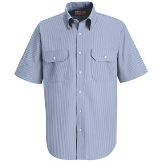 Red kap Industrial Shirts Mens SL60 Mens Deluxe Uniform Shirt-Red kap