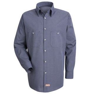 Mens Micro-Check Uniform Shirt-Red Kap®