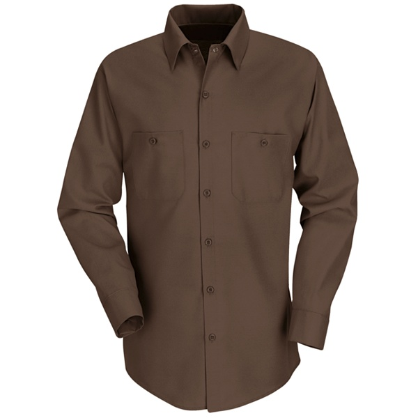 Red Kap Men's Long Sleeve Work Shirt - SP14-