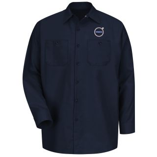 Volvo Personal Service Long Sleeve Technician Shirt - SP14VP-Red Kap®