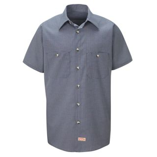 SP20_Micro Mens Micro-Check Uniform Shirt-