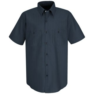 Mens Durastripe Work Shirt-Red Kap®