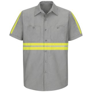 SP24_Enhanced Enhanced Visibility Industrial Work Shirt-Red Kap®