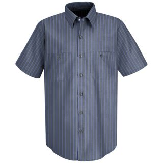 SP24_Stripe Mens Industrial Stripe Work Shirt-