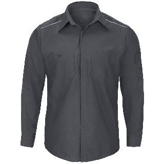Mens Long Sleeve Pro AirFlow Shirt-Red kap