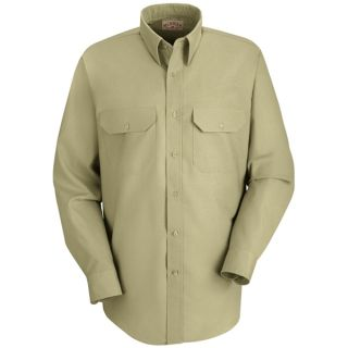 Mens Solid Dress Uniform Shirt-