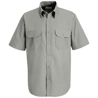 SP60_Solid Mens Solid Dress Uniform Shirt-