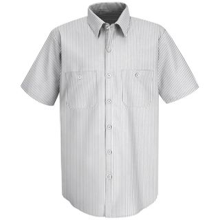 SP60 Mens Striped Dress Uniform Shirt-Red Kap®