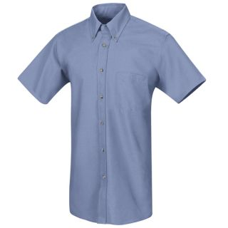 Mens Poplin Dress Shirt-Red Kap®