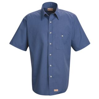 SP84 Mens Mini-Plaid Uniform Shirt-