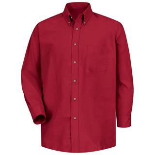 SP90 Mens Poplin Dress Shirt-Red Kap®
