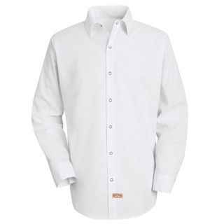 Mens Specialized Pocketless Polyester Work Shirt