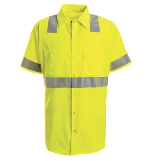 SS24 Hi-Visibility Work Shirt - Class 2 Level 2-Red Kap®