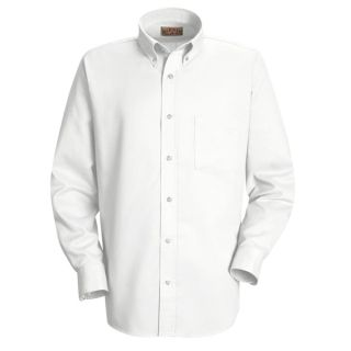 Mens Easy Care Dress Shirt-Red kap