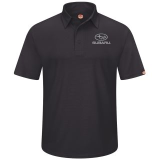 Subaru Mens Short Sleeve Performance Knit Flex Series Pro Polo - SUK0BK-