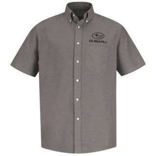 Red Kap® Branded Industrial Auto Subaru M SS Oxford Shirt - GY-Red kap