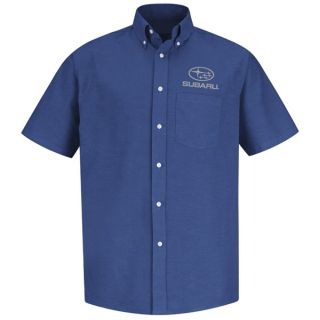 Subaru Mens Short Sleeve Executive Oxford Dress Shirt - SUM2FB-