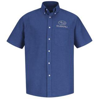 Red Kap® Branded Industrial Auto Subaru M SS Oxford Shirt - FB-Red kap