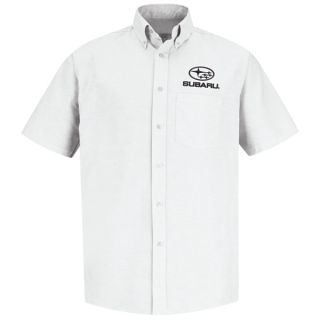 Red Kap® Branded Industrial Auto Subaru M SS Oxford Shirt -WH-Red kap