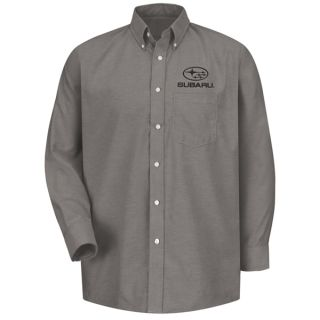 Subaru Mens Long Sleeve Executive Oxford Dress Shirt - SUM4GY-