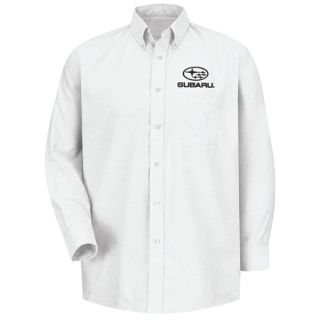Subaru Mens Long Sleeve Executive Oxford Dress Shirt - SUM6WH-