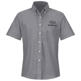 Red Kap® Branded Industrial Auto Subaru F SS Oxford Shirt -GY-Red kap