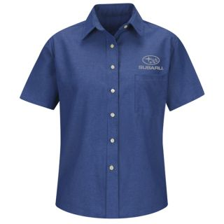 Subaru Womens Long Sleeve Oxford Dress Shirt - SUW3FB-