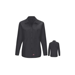 Womens MIMIX Long Sleeve Work Shirt-Red Kap®
