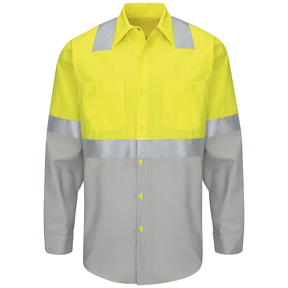 73a410f6ae Hi-Visibility Color Block Work Shirt Class 2 Level 2. SY14 Class2Level2. Red  Kap®
