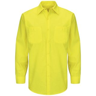 Enhanced Visibility Ripstop Work Shirt-Red kap