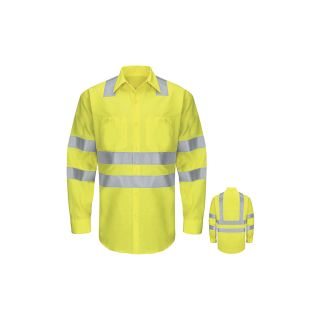 Hi-Visibility Ripstop Work Shirt Class 3 Level 2-Red kap
