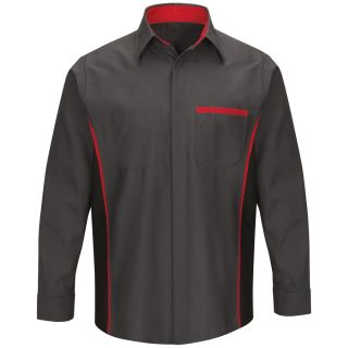 Nissan Long Sleeve Technician Shirt - SY14NS-Red Kap®
