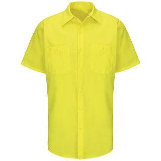 SY24_Enhanced Enhanced Visibility Ripstop Work Shirt-Red kap