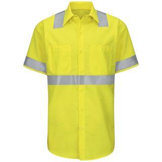 SY24_RipstopClass2Level2 Hi-Visibility Ripstop Work Shirt Class 2 Level 2-Red kap