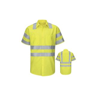 SY24_RipstopClass3Level2 Hi-Visibility Ripstop Work Shirt Class 3 Level 2-Red Kap®